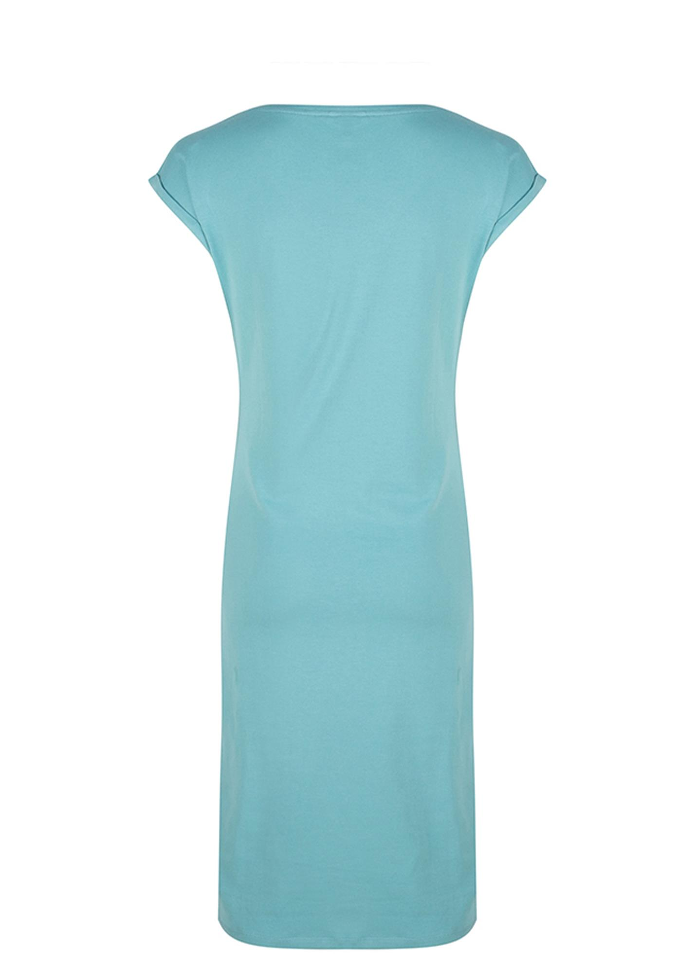 Esqualo Jurk Solid Knot Jersey turquoise maat: M - 38